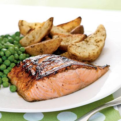 Salmon with Maple-Lemon Glaze