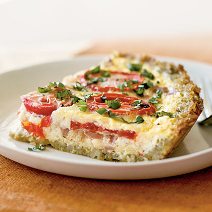 Tomato And Basil Pesto Parmesan Tart Recipes — Dishmaps