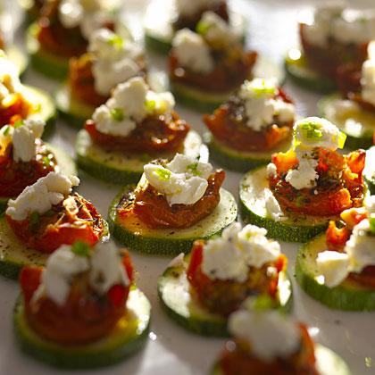 zucchini-tomato-cheese bites