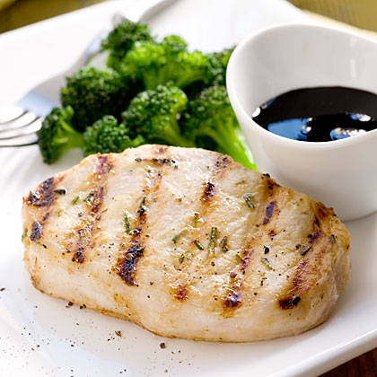 Grilled Pork Chops With Balsamic Syrup
