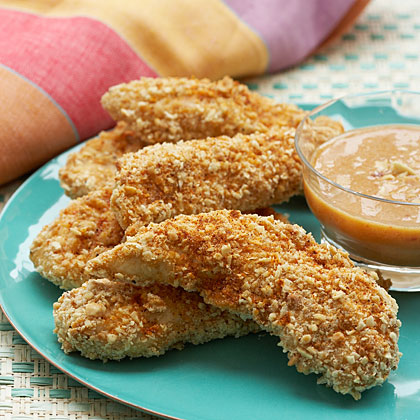 Peanut Oven-Fried Chicken With Citrus-Ginger Sauce