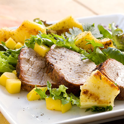 Island Jerk Pork Tenderloin Salad