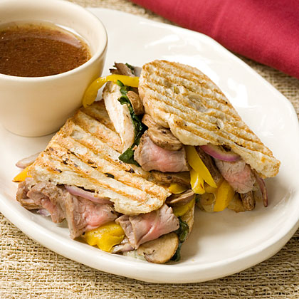 Steak and Grilled Vegetable Panini