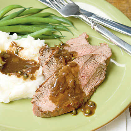 Tri-Tip Roast with Green Peppercorn Sauce