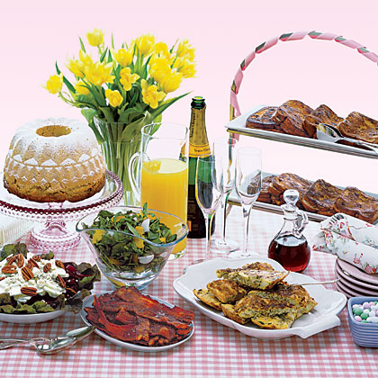 Fresh and healthy easter brunch menus myrecipes for Easy easter lunch menu