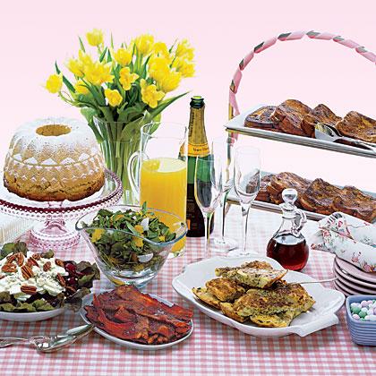 Fresh and healthy easter brunch menus myrecipes for Easy easter lunch menu