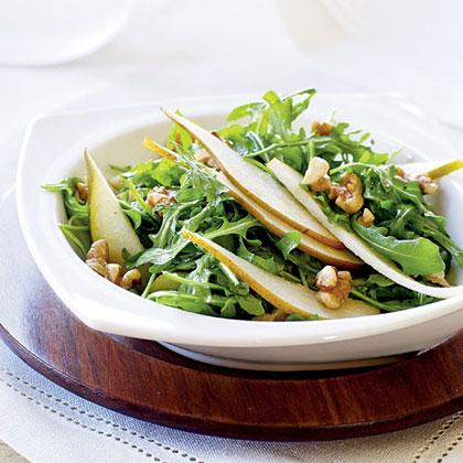 Arugula and Pear Salad with Toasted Walnuts Recipe