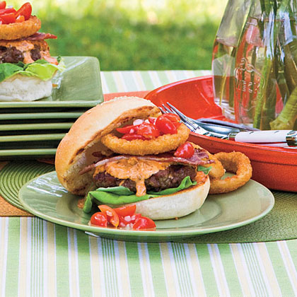 Dixie Beef Burgers With Chowchow or Banana Pepper Spread