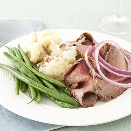 steak-potatoes-green-beansRecipe