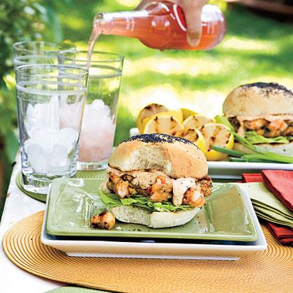Shrimp Burgers With Sweet 'n' Spicy Tartar Sauce