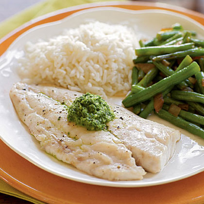 Snapper with Basil-Mint SauceRecipe