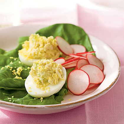 Crab Salad-Stuffed Eggs