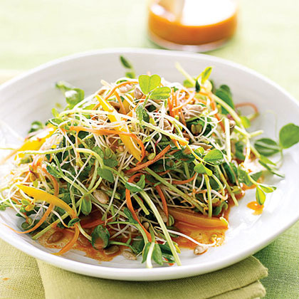Spicy Sunflower Salad with Carrot Dressing