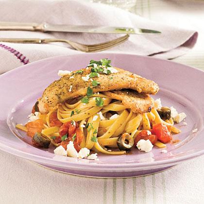 Mediterranean Turkey Cutlets and Pasta