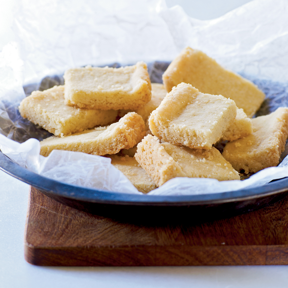 Vanilla Bean Shortbread RecipeButtery, crumbly shortbread gets a flavor boost when you add vanilla bean.