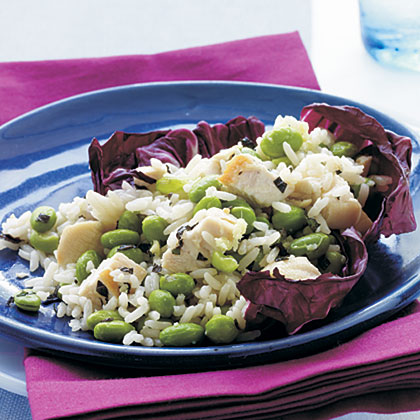 Chicken, Edamame, and Rice Salad