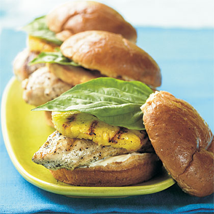 Grilled Chicken and Pineapple Sandwiches Recipe