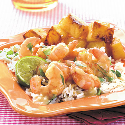 Spicy Green Curry–Cilantro ShrimpRecipe