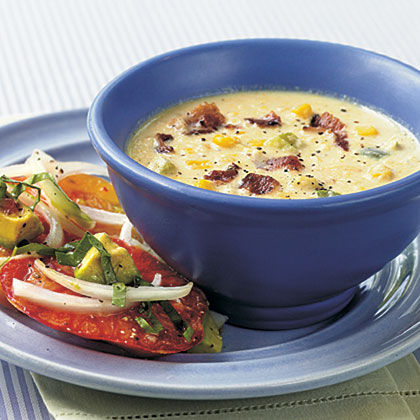Corn and Bacon ChowderRecipe