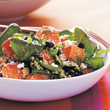 Couscous, Sweet Potato, and Black Soybean Salad