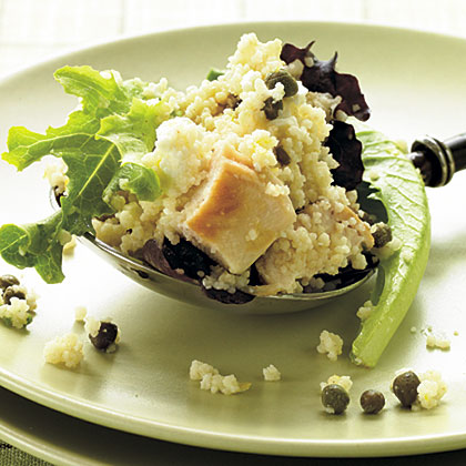 Feta-Chicken Couscous Salad with Basil Recipe
