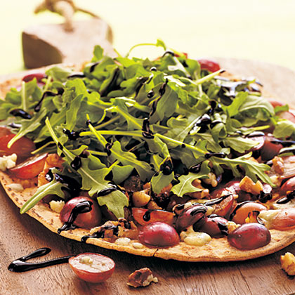 Grape, Blue Cheese, and Walnut Pizza
