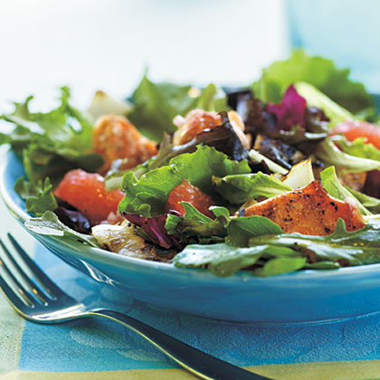 Grilled Salmon and Grapefruit Salad with Blood Orange Vinaigrette ...