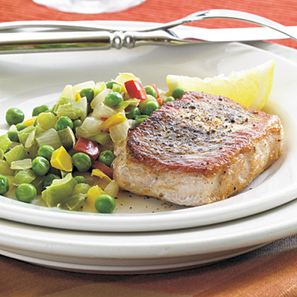 Lemon-Herb Skillet Pork Chops