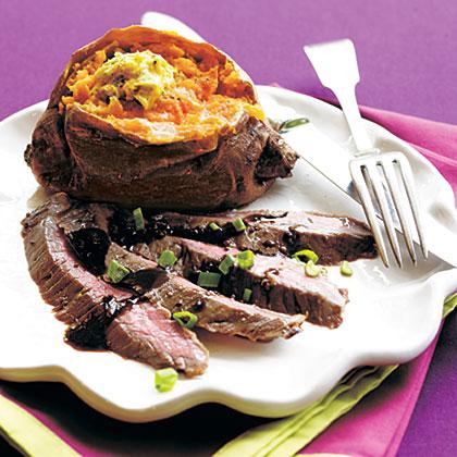 Mustard-Molasses Flank Steak