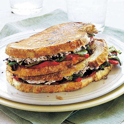Goat Cheese and Roasted Pepper Panini Recipe