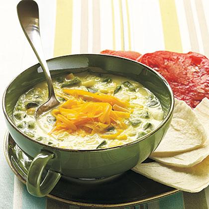 Spicy Poblano and Corn SoupRecipe