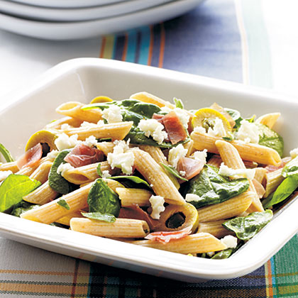 Prosciutto and Spicy Green Olive Pasta SaladRecipe
