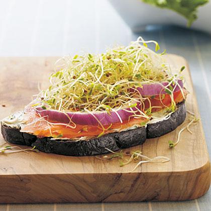 Open-Faced Smoked Salmon SandwichesRecipe