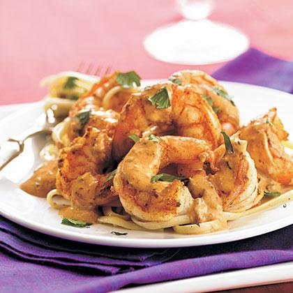 Shrimps mit cremiger Orange-Chipotlesoße