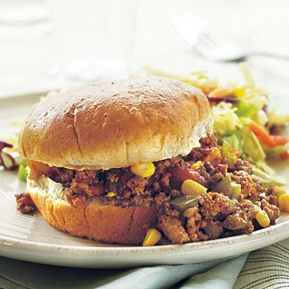 Sloppy Skillet Beef Sandwiches
