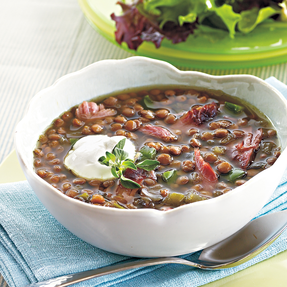 Smoked Turkey-Lentil Soup Recipe