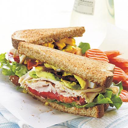 Turkey Cobb Sandwiches Recipe