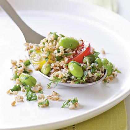 Bulgur Salad with Edamame and Cherry Tomatoes