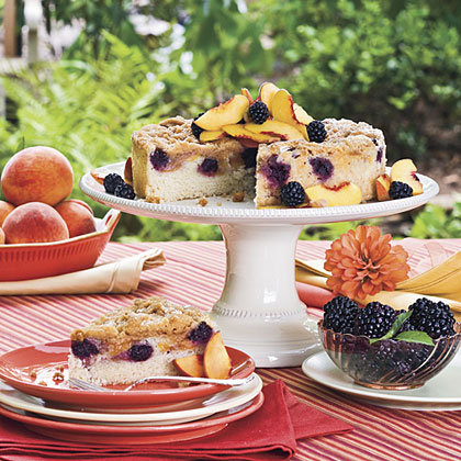 Blackberry-Peach Coffee Cake