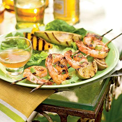 Grilled Shrimp, Mango, and Avocado