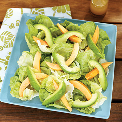Papaya and Avocado Salads with Hawaiian Vanilla Vinaigrette