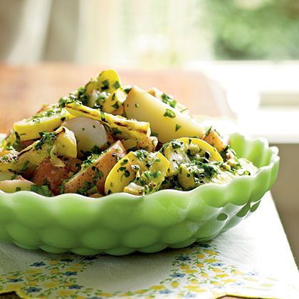 Potato Salad with Herbs and Grilled Summer Squash