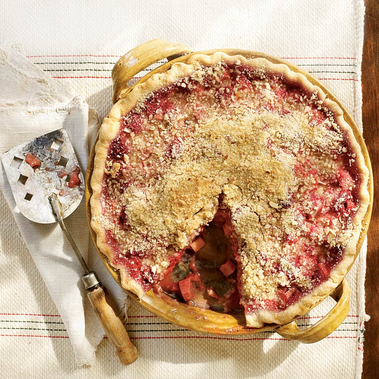 Raspberry-Rhubarb Pie Recipe | MyRecipes