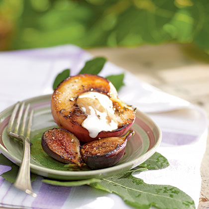 Ripe figs and peaches have naturally high levels of sugar, which means they'll caramelize beautifully without additional sugar or copious amounts of fat. This simple yet elegant dessert is a great way to maintain the texture and floral flavors of these delicate fruits. Toasted whole black peppercorns add an interesting savory flavor to this dish.Recipe: Seared Figs and White Peaches with Balsamic Reduction