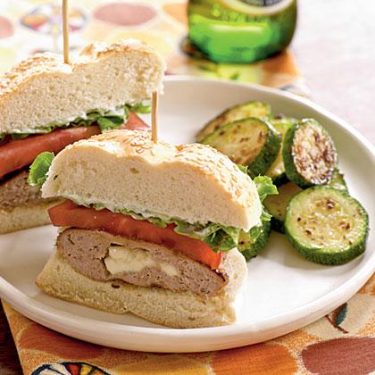 Feta-Stuffed Turkey Burgers