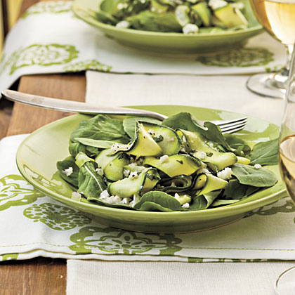 Zucchini Ribbons With Feta and Mint