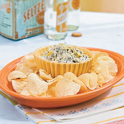 Zesty Spinach-Artichoke Dip and Chips Recipe