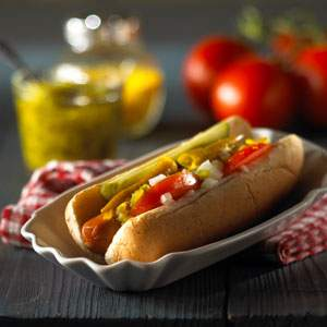 Morningstar Farms Chicago Dogs recipe