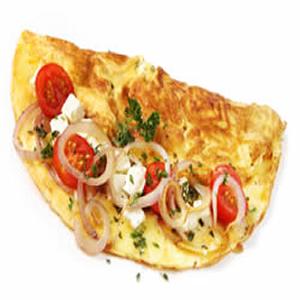 Eggland's Best Tomato Spinach Feta Omelet Recipe