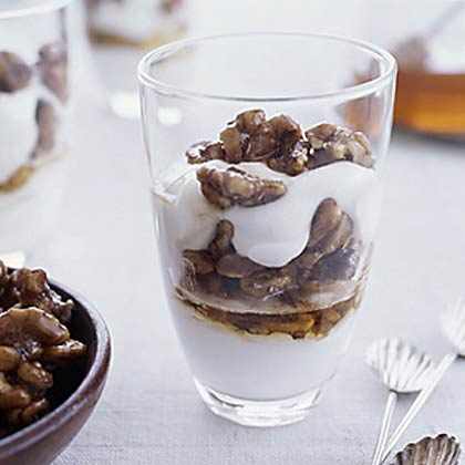 Greek-Style Yogurt with Honey and WalnutsRecipe